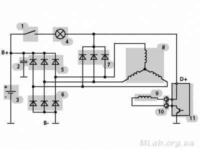 Принципная электронная схема