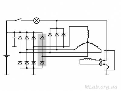 Схема генераторной установки с