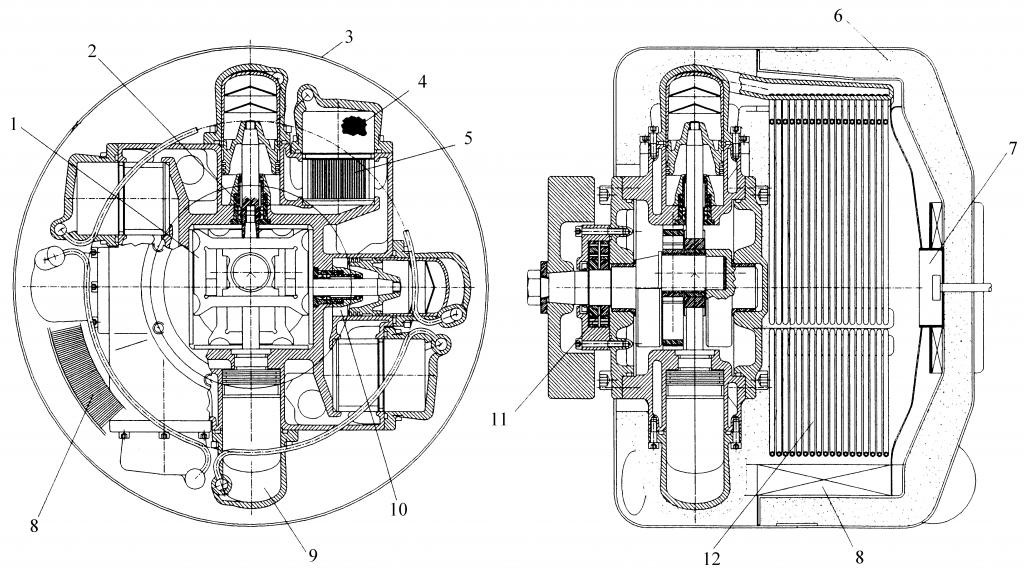 Двигатель Стирлинга двойного действия